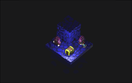 Voxel art and animation of bandits.